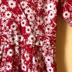 Motel Pants - Red and white floral jumper